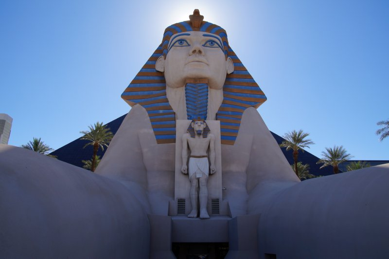 Street view of The  Strip  Luxor