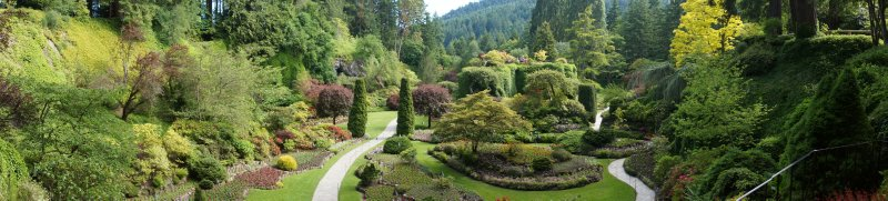 Sunken Garden at  The Butchart Gardens
