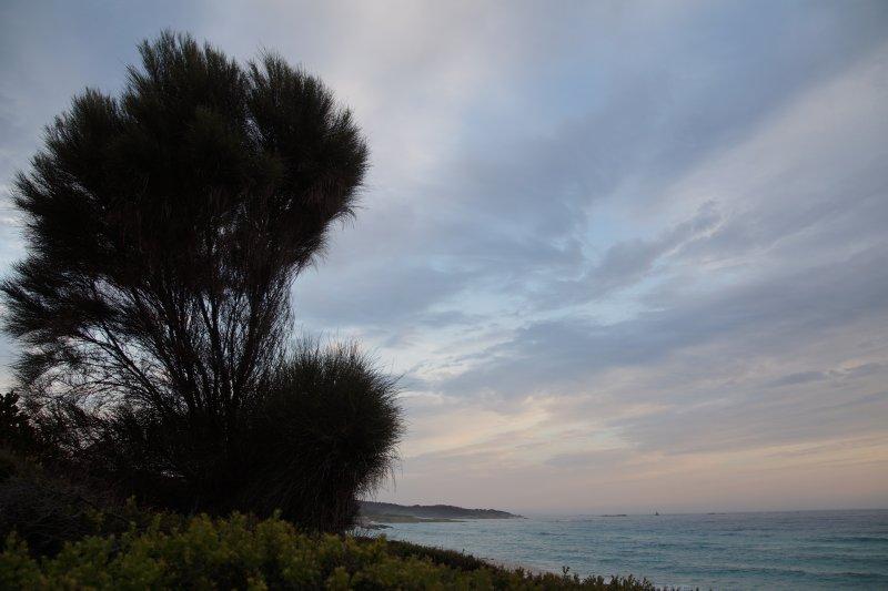 Swimcart beach at dawn