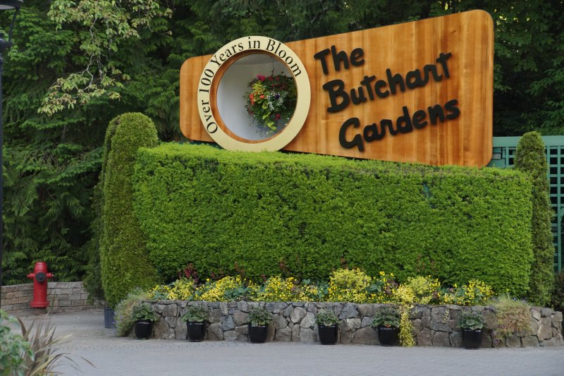 The Butchart Garden sign