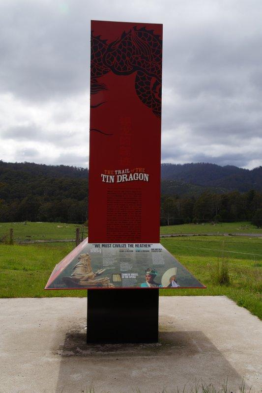 The Trail of the Tin Dragon Chinese memorial at Moorina