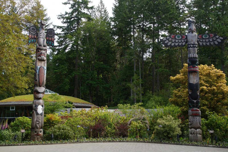 Totems at  The Butchart Gardens