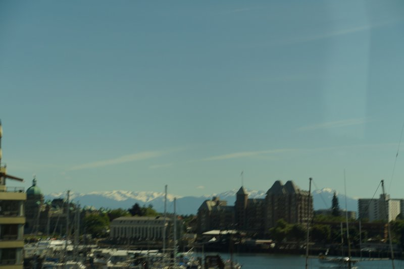 Victoria with Olympic mountains in background