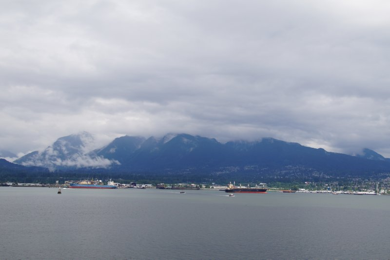 View from cruise ship terminal, Vancouver towards Stanley Park