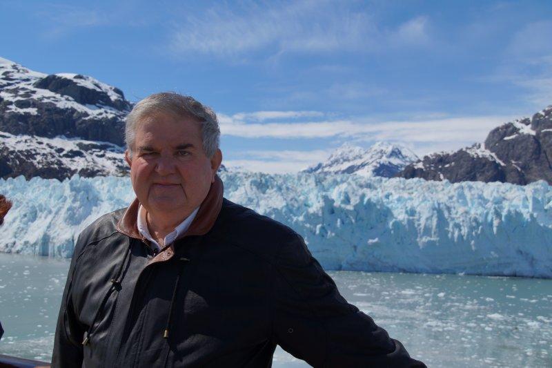 View from Deck  9 0n MS Volendam  Margerie Glacier, Glacier Bay