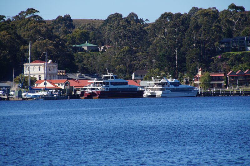 View from Railway Station back across to Esplanade, Strahan