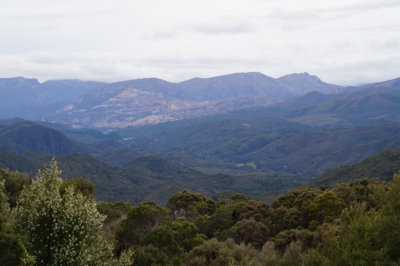 View from lookout near Queenstown