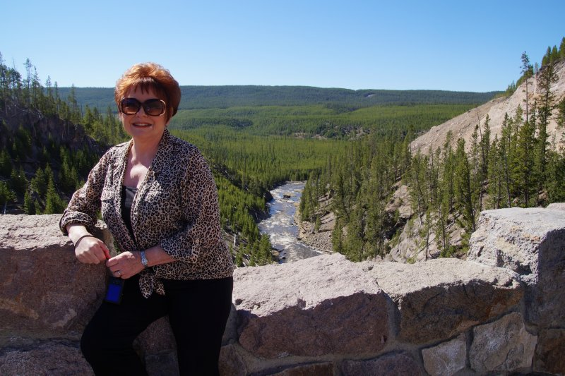 Yellowstone National Park -  Yellowstone River Lower Falls - Julie