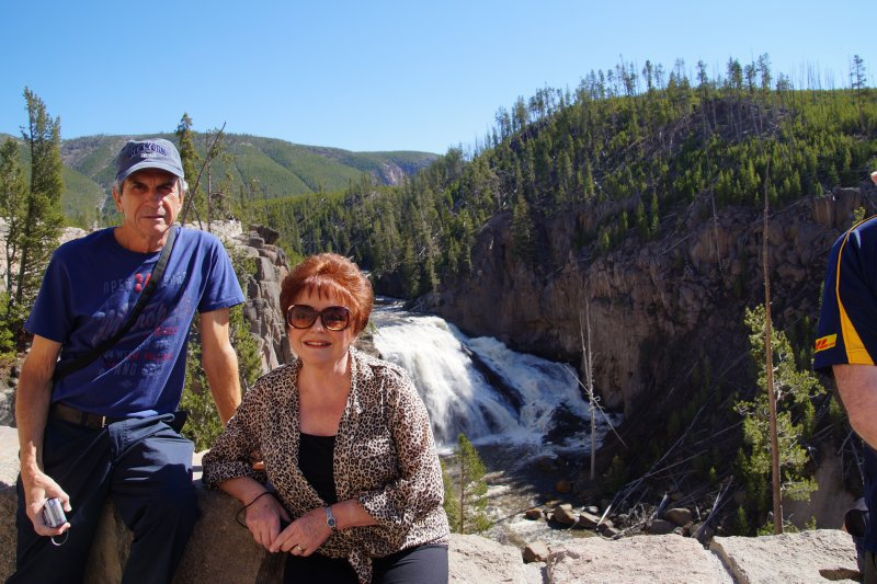 Yellowstone National Park -  Yellowstone River Lower Falls - Philip and Julie