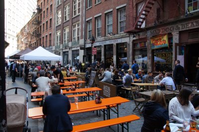 narrow streets around Wall Street