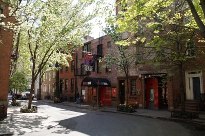 old off Broadway theatre in west village of Greenwich Village