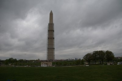 The Washington Monument 555.5 feet tall with a base 55.5 feet - the tallest obelisk in the world