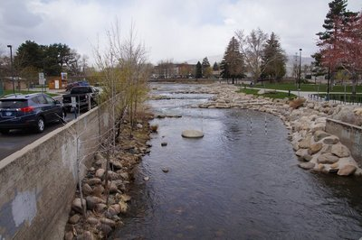 The Truckee River in central Reno