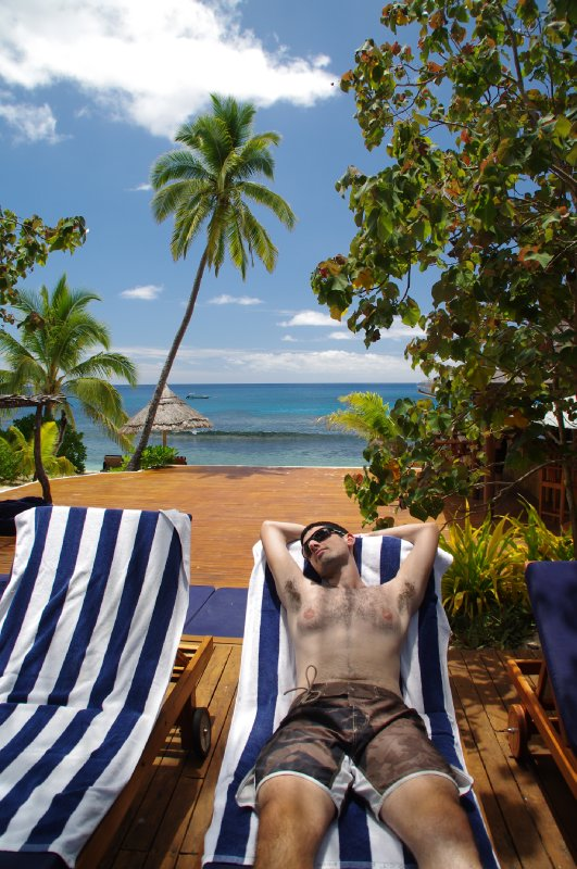Détente à Octopus Resort Hotel à Waya