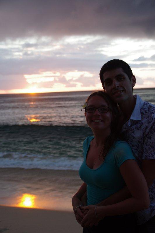 Coucher de soleil à Waya