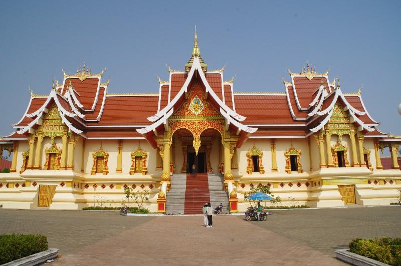 Près du Pha That Luang à Vientiane