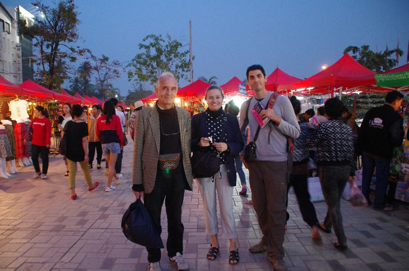 Marché de nuit à Vientiane