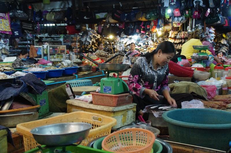 Marché à Siem Reap
