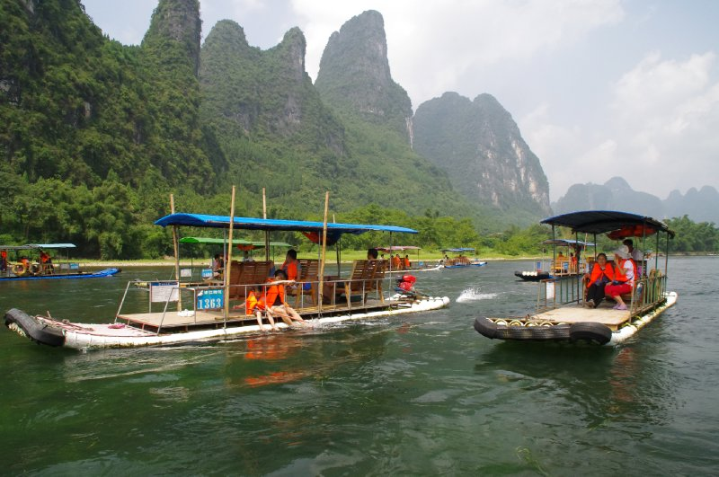 Croisière sur la rivière Li entre Yangshuo et Guilin