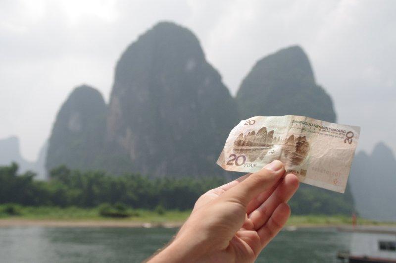 Guilin et le billet de 20 Yuan