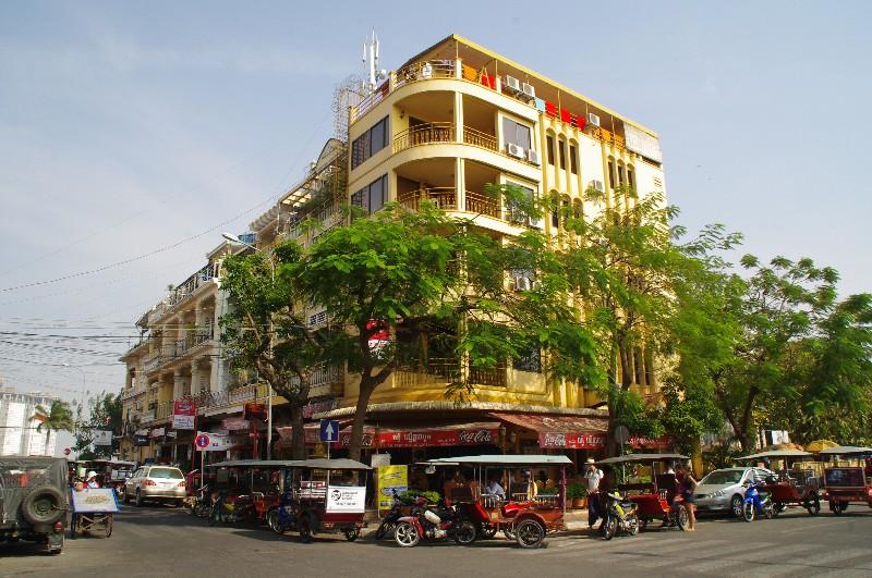 Rue à Phnom Penh au Cambodge