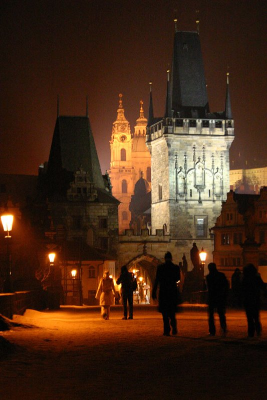 Charles Bridge during the night