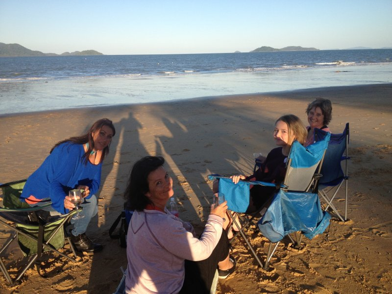 """QLD - MISSION BEACH """"PICNIC AT SUNSET WITH A GREAT VIEW OF DUNK ISLAND"""""""