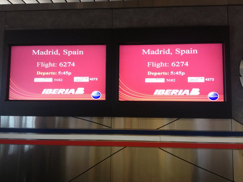 Now boarding to Spain...