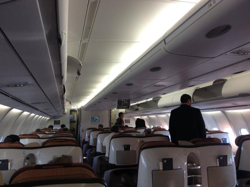 Business class cabin on Iberia.  Ho-hum.