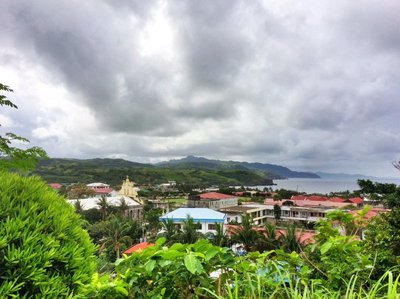 View over Basco, the main town on Batan Island, Batanes