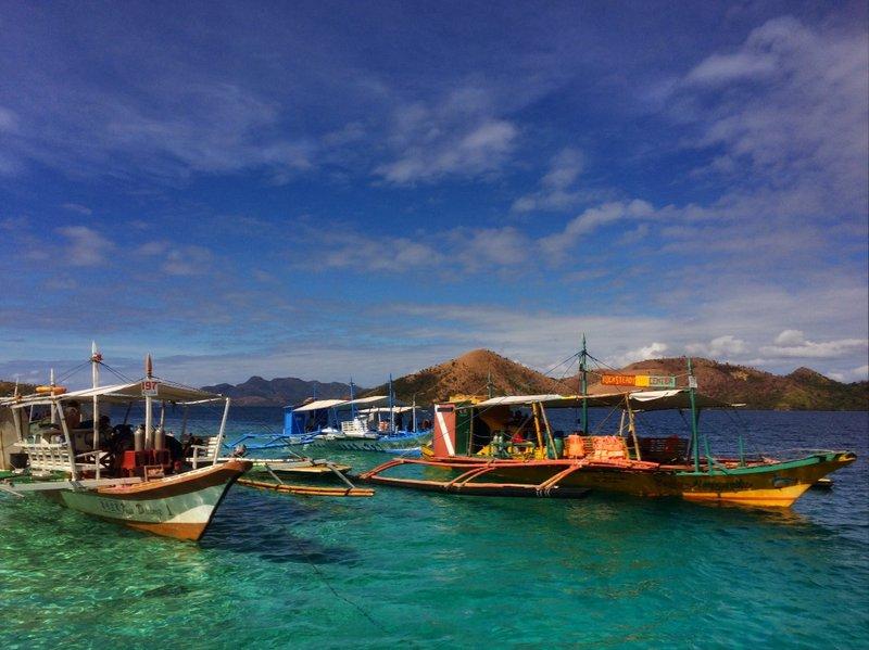 Island hopping in Palawan