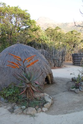 Swazi lodgings - traditional village in Swaziland