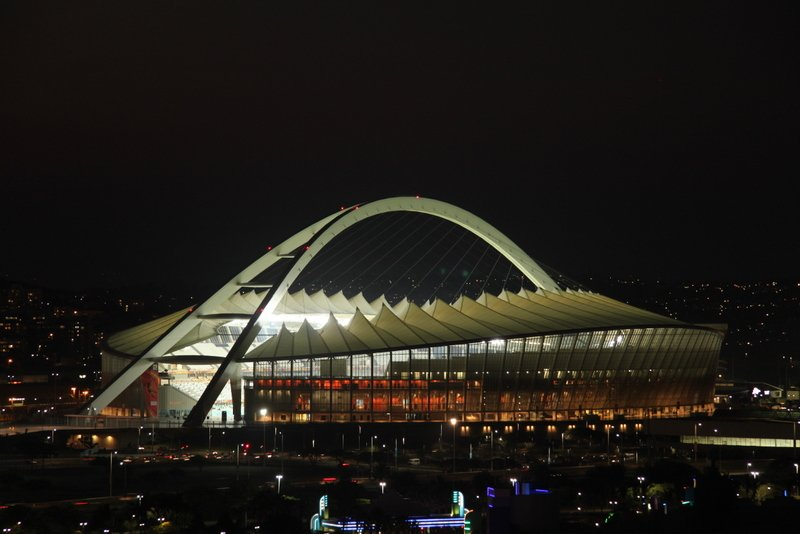 The view of the semi final venue from our Durban hotel room