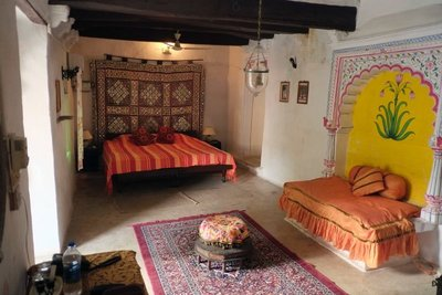 Our room, Ghanerao Palace, Rajasthan (52 euros)