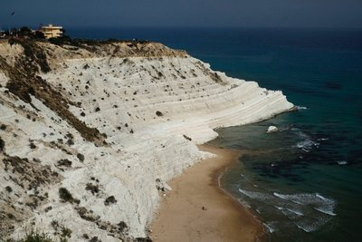 Scala dei Turchi, naturally terraced cliffs on the southern coast.