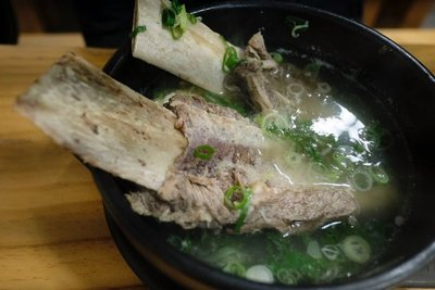 Monster beef rib soup