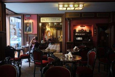 Dining room at Cafe Mikolasch, Lviv