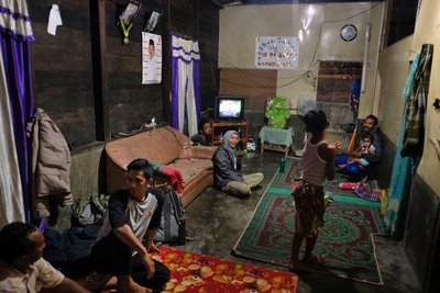 Main room of the house, Aceh Tamiang rescue