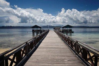 Sawandarek jetty, Arborek island