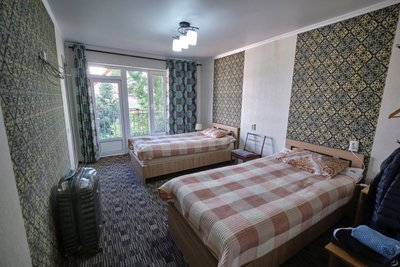 The bedroom with private bathroom, a real luxury in rural Kyrgyzstan