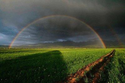 A perfect rainbow near Karakol