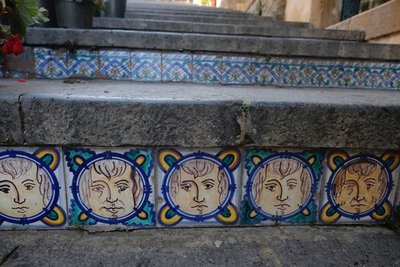 Ceramic tiles on the steps of Santa Maria del Monte, Caltagirone