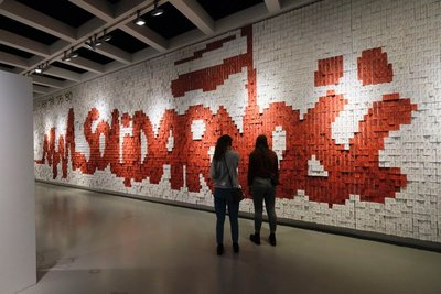 Add your note to the thousands that make up the Solidarity Wall at the European Solidarity Centre, Gdansk