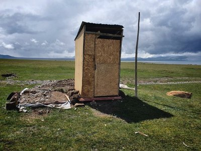 Typical toilet at a yurt camp