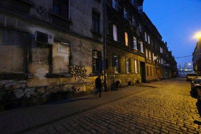 Old street in Katowice