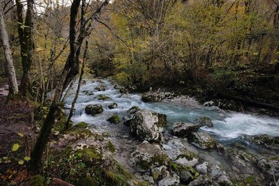 Hiking to Kozjak waterfall