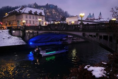 A winter night in Ljubljana