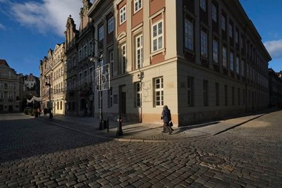 Views of Stary Rynek, Old Market Square, Poznan, Poland