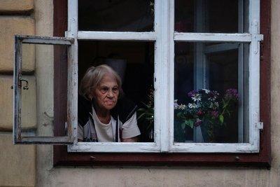 Lady at window, Sibiu