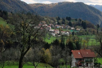 View of the valley from Tolmin Gorges